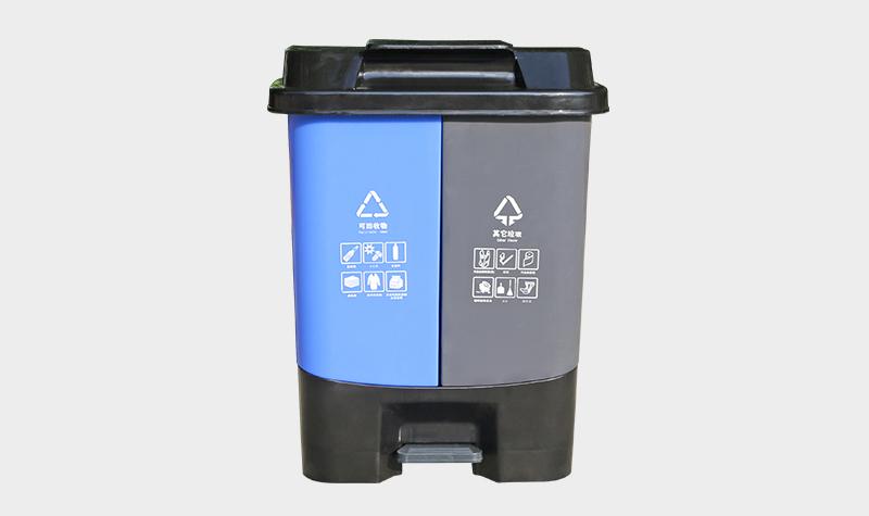 40L双桶环保塑料垃圾桶